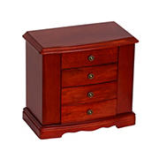 Mele and Co. Harmony Wooden Jewelry Box - Cherry Finish