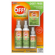 OFF! Botanicals Deet Free Plant Based Repellant Combo Pack