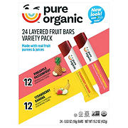 Pure Organic Layered Fruit Bars, Variety Pack, 24 ct.