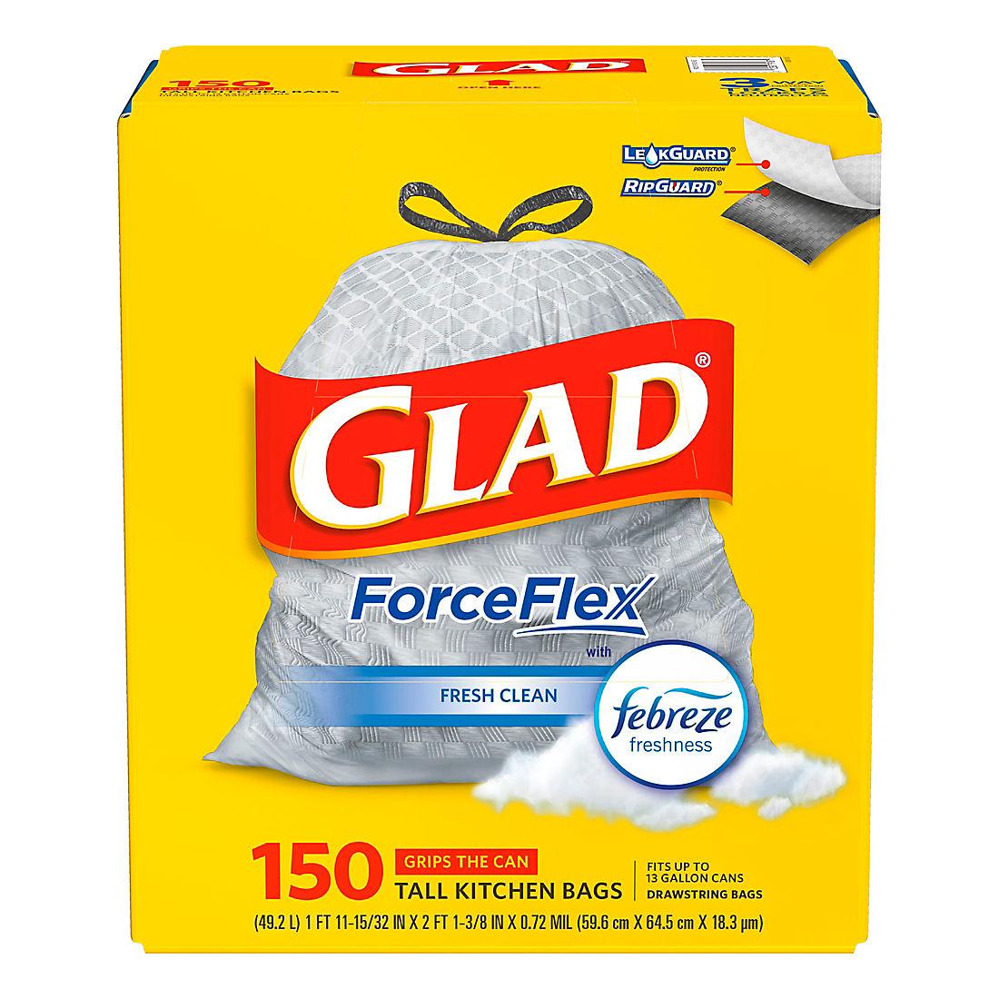 Glad Forceflex 13 Gallon Drawstring