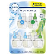 Febreze Plug Odor-Eliminating Air Freshener Refills Value Pack, 5 pk.