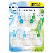 Febreze Plug Odor-Eliminating Air Freshener Refills Value Pack, 5 pk.