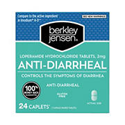 Berkley Jensen Loperamide Hydrochloride Anti-Diarrheal 2 mg Tablets, 24 ct.