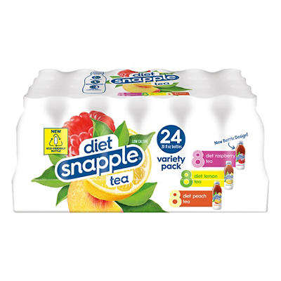 Diet Snapple Ice Tea Variety Pack, 24 pk./20 fl. oz.
