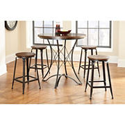 Steve Silver Atkins 5-Pc. Counter Height Dining Set - Brown