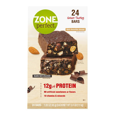 ZonePerfect Nutrition Bar Dark Chocolate Almond and Double Dark Chocol