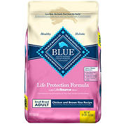 Blue Buffalo Chicken and Brown Rice Life Protection Formula Small Breed Adult Dry Dog Food, 20 lbs.