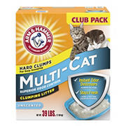 Arm and Hammer Multi Cat Unscented Clumping Cat Litter, 39 lbs.