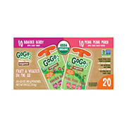 GoGo SqueeZ Organic Fruit and Veggiez, 20 ct.