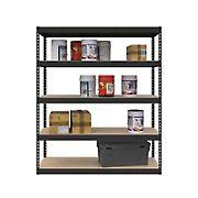 SafeRacks 1.5'D x 5'W x 6'H Modular Shelving - Hammertone