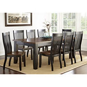 Steve Silver Parkson 7-Pc. Two-Tone Dining Set - Black