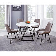 Steve Silver Stephanie 5-Pc. Marble Dining Set - White