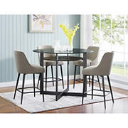Steve Silver Phillip 5-Pc. Counter Height Dining Set - Black