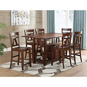 Steve Silver Noble 7-Pc. Counter Height Dining Set - Cinnamon