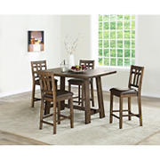 Steve Silver Clinton 5-Pc. Counter Height Dining Set - Mocha
