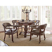 Steve Silver Galaxy Game Table Dining Set - Brown