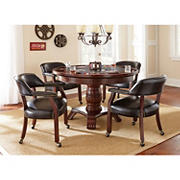Steve Silver Galaxy Game Table Dining Set - Black