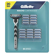 Gillette Mach3 Men's Razor Blades, 20 ct.