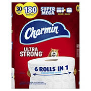 Charmin Ultra Strong Super Mega Roll Toilet Paper, 30 ct.