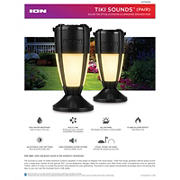 Tiki Sounds Solar Outdoor Illuminated Speakers, 2 pk.