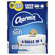 Charmin Ultra Soft Super Mega Roll Toilet Paper, 30 ct.