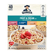 Quaker Fruit and Cream Instant Oatmeal, 40 ct.