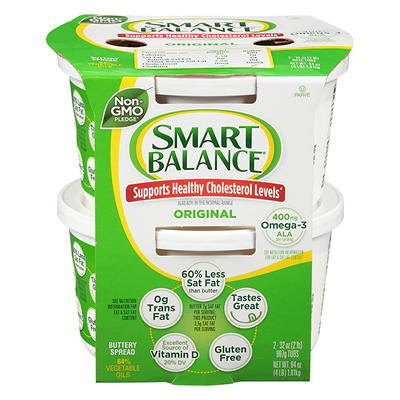 Smart Balance Buttery Spread, 2 pk./32 oz.