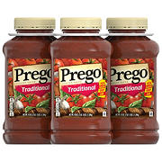 Prego Traditional Italian Tomato Sauce, 3 pk.