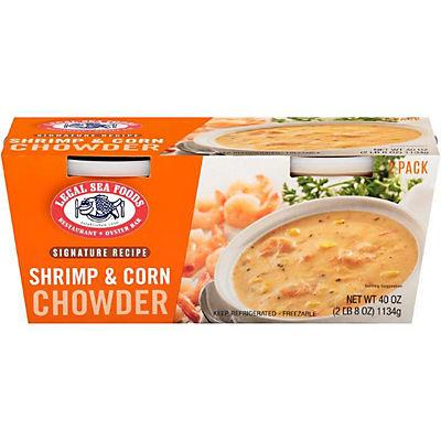 Legal Sea Foods Shrimp and Corn Chowder, 2 pk./20 oz.