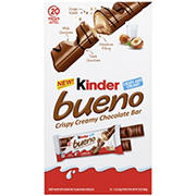 Kinder Bueno Crispy Creamy Chocolate Bars, 20 ct.