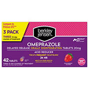 Berkley Jensen 20mg Omeprazole Orally Disintegrating Acid Reducer Tablets, 42 ct