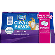 Fresh Step Clean Paws Multi-Cat Scented Clumping Litter, 37.8 lbs.