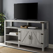 "W. Trends 58"" Farmhouse Extra Tall TV Stand for Most TV's up to 65"" - Stone Grey"