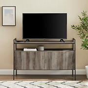"""W. Trends 52"""" Urban Industrial Angle-Frame TV Stand for Most TV's up to 58"""" - Grey Wash"""