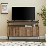 "W. Trends 52"" Urban Industrial Angle-Frame TV Stand for Most TV's up to 58"" - Rustic Oak"