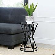 Abbyson Living Denise Mirrored End Table - Black
