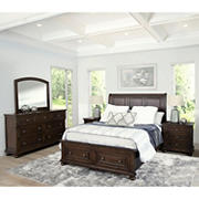 Abbyson Living Livingston 5-Pc. Queen-Size Bedroom Set - Brown