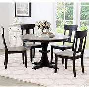 Abbyson Living Alessandra Farmhouse 5-Pc. Dining Set - Natural Two-Tone