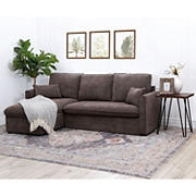Abbyson Living Winchester Storage Sectional - Brown
