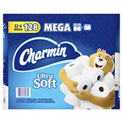 Charmin Ultra Soft Mega Roll Toilet Paper, 32 ct.