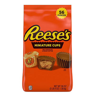 Hershey's Reese's Miniature Peanut Butter Cups, 56 oz.