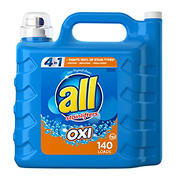 all Liquid Laundry Detergent with OXI Stain Removers and Whiteners, 250 fl. oz.