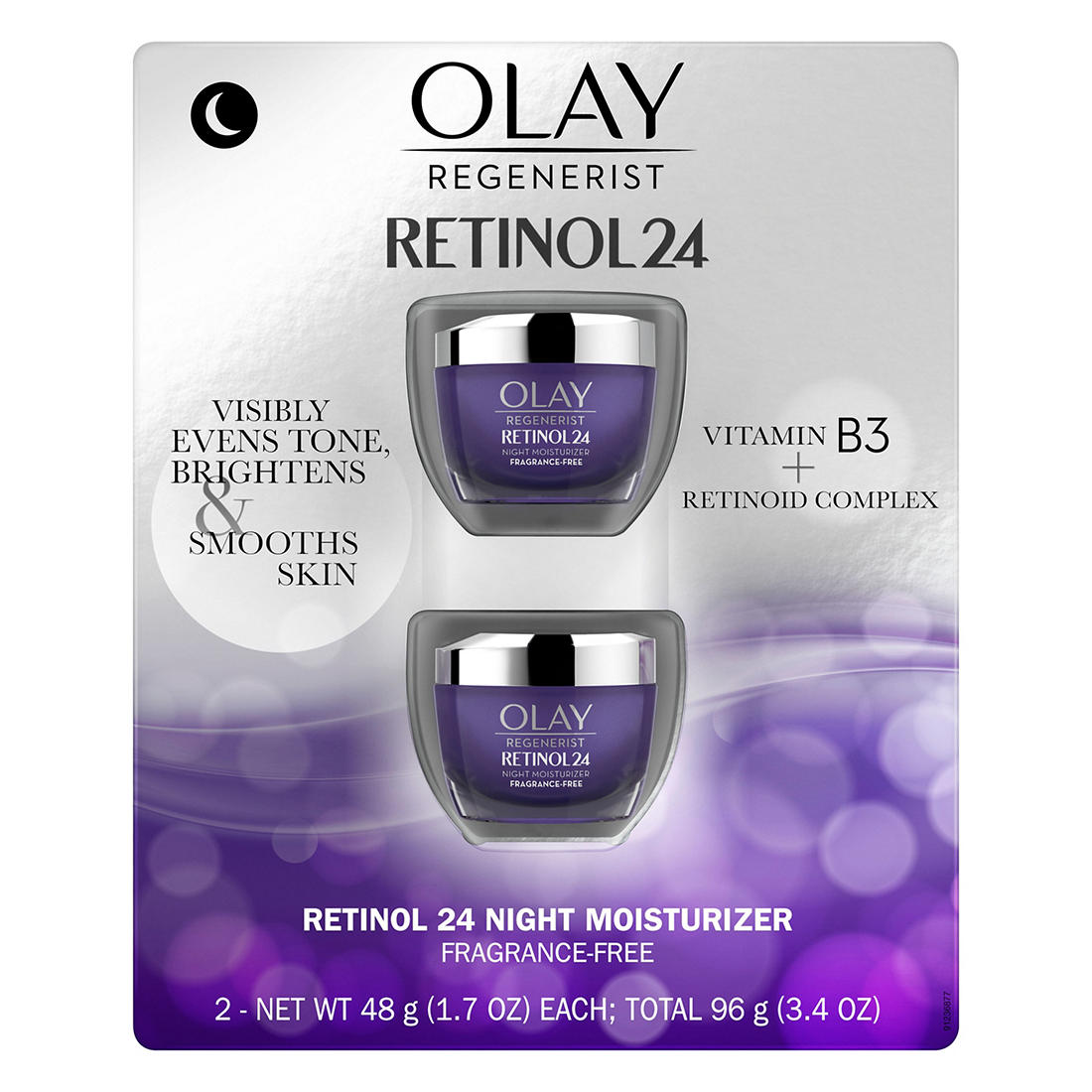 Olay Regenerist Retinol 24 Facial Moisturizer 2 Pk Bjs