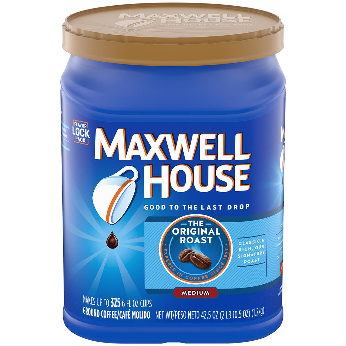 image about Maxwell House Printable Coupons called Maxwell Home Authentic Roast Floor Espresso, 42.5 oz.