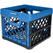 CleverMade Collapsible Milk Crate - Neptune Blue