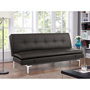 Relax A Lounger Meagan Convertible Bonded Leather Sofa - Brown