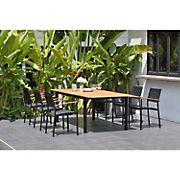 Amazonia Anette 7-Pc. Teak and Aluminum Extendable Patio Dining Set