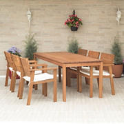 Amazonia Carrie 7-Pc. Wood Patio Dining Set