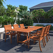 Amazonia Marlene 7-Pc. Wood Extendable Patio Dining Set