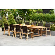 Amazonia Kleo 9-Pc. Teak Double Leaf Extendable Patio Dining Set